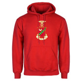 Red Fleece Hood-Crest