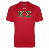 Under Armour Red Tech Tee-Kappa Sigma - Greek Letters - 2 Color