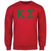 Red Fleece Crew-Kappa Sigma - Greek Letters