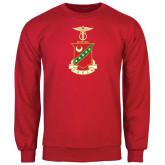 Red Fleece Crew-Crest