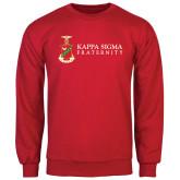 Red Fleece Crew-Kappa Sigma Fraternity w/ Crest