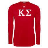 Under Armour Red Long Sleeve Tech Tee-Kappa Sigma - Greek Letters