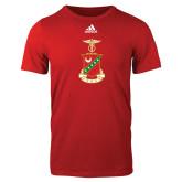 Adidas Red Logo T Shirt-Crest