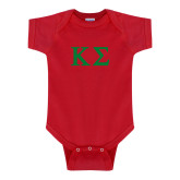 Red Infant Onesie-Kappa Sigma - Greek Letters