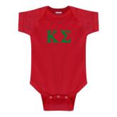Red Infant Onesie-Kappa Sigma - Greek Letters