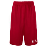 Syntrel Performance Red 9 Inch Length Shorts-Kappa Sigma - Greek Letters