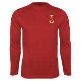 Performance Red Longsleeve Shirt-Crest