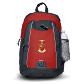Impulse Red Backpack-Crest