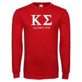 Red Long Sleeve T Shirt-Alumni - Personalized Year