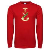 Red Long Sleeve T Shirt-Crest