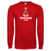 Red Long Sleeve T Shirt-Kappa Sigma Est 1869 Stacked