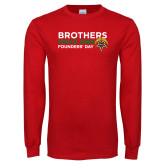 Red Long Sleeve T Shirt-Brothers Since