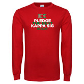 Red Long Sleeve T Shirt-Pledge the Best