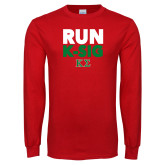Red Long Sleeve T Shirt-Run K-Sig