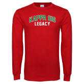 Red Long Sleeve T Shirt-Legacy