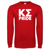Red Long Sleeve T Shirt-Kappa Sigma Pride