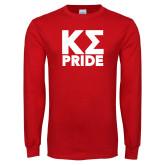 Red Long Sleeve T Shirt-Kappa Sigma Pride