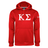 Under Armour Red Performance Sweats Team Hoodie-Kappa Sigma - Greek Letters