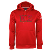 Under Armour Red Performance Sweats Team Hoodie-Kappa Sigma - Greek Letters - 2 Color