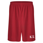 Performance Classic Red 9 Inch Short-Kappa Sigma - Greek Letters