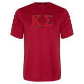 Performance Red Tee-Kappa Sigma - Greek Letters - 2 Color