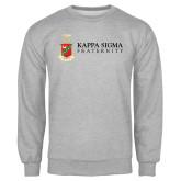 Grey Fleece Crew-Kappa Sigma Fraternity w/ Crest