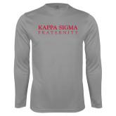 Performance Steel Longsleeve Shirt-Kappa Sigma Fraternity