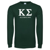 Dark Green Long Sleeve T Shirt-Alumni - Personalized Year