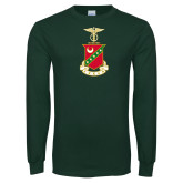 Dark Green Long Sleeve T Shirt-Crest