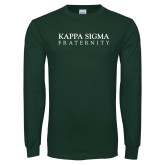 Dark Green Long Sleeve T Shirt-Kappa Sigma Fraternity