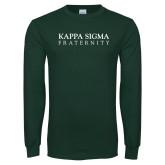 Dark Green Long Sleeve T Shirt-Kappa Sigma Fraternity