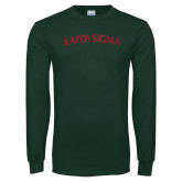 Dark Green Long Sleeve T Shirt-Arched Kappa Sigma