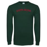 Dark Green Long Sleeve T Shirt-Arched Kappa Sigma