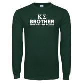 Dark Green Long Sleeve T Shirt-Brother From Another Mother