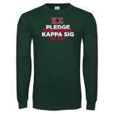Dark Green Long Sleeve T Shirt-Pledge the Best