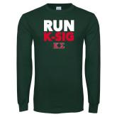 Dark Green Long Sleeve T Shirt-Run K-Sig