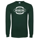 Dark Green Long Sleeve T Shirt-BiD Day -  Chapter Personalized
