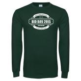 Dark Green Long Sleeve T Shirt-BiD Day -  Chapter Personalized