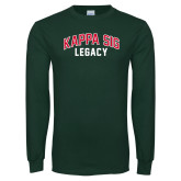 Dark Green Long Sleeve T Shirt-Legacy