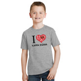 Youth Grey T-Shirt-I Heart Kappa Sigma