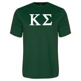 Performance Dark Green Tee-Kappa Sigma - Greek Letters