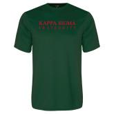 Performance Dark Green Tee-Kappa Sigma Fraternity