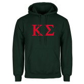 Dark Green Fleece Hood-Kappa Sigma - Greek Letters