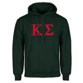 Dark Green Fleece Hood-Kappa Sigma - Greek Letters