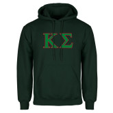 Dark Green Fleece Hood-Kappa Sigma - Greek Letters - 2 Color