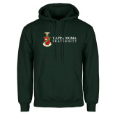Dark Green Fleece Hood-Kappa Sigma Fraternity w/ Crest