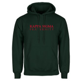 Dark Green Fleece Hood-Kappa Sigma Fraternity