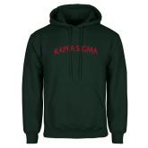 Dark Green Fleece Hood-Arched Kappa Sigma