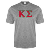 Performance Grey Heather Contender Tee-Kappa Sigma - Greek Letters - 2 Color