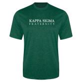 Performance Dark Green Heather Contender Tee-Kappa Sigma Fraternity